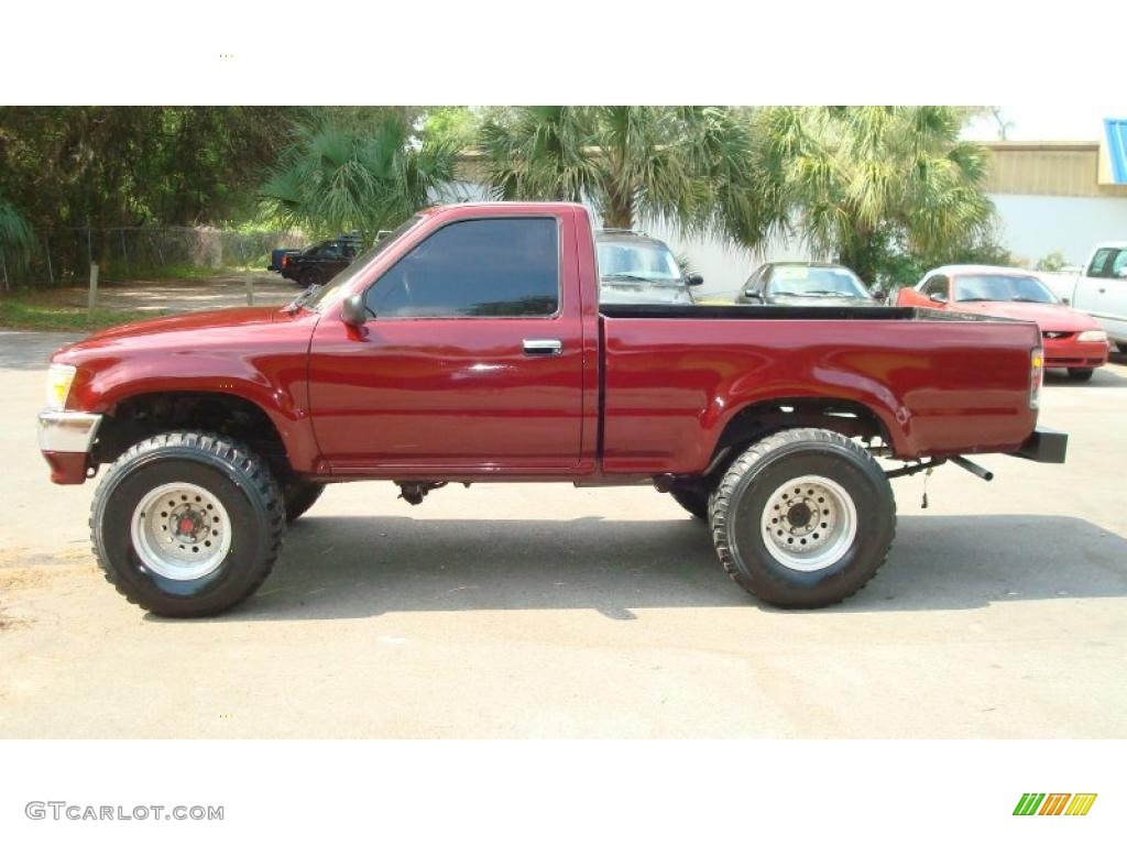 1992 Garnet Red Pearl Toyota Pickup Deluxe Regular Cab 4x4 48099877 Photo 6 Gtcarlot Com Car Color Galleries