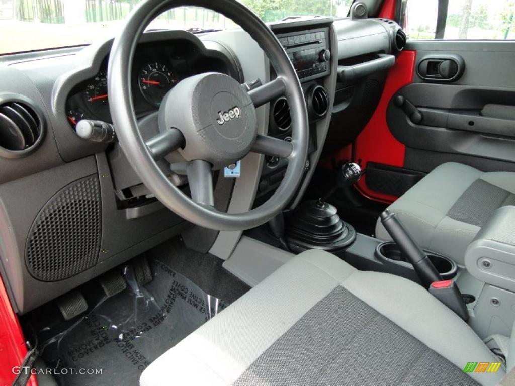 Dark Slate Gray Med Slate Gray Interior 2008 Jeep Wrangler Unlimited X 4x4 Photo 48109368