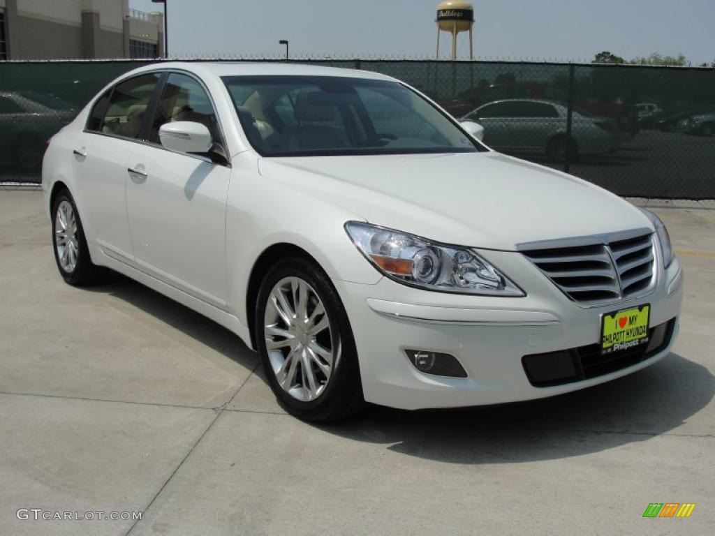 2011 White Satin Pearl Hyundai Genesis 3 8 Sedan 48099739 Gtcarlot Com Car Color Galleries
