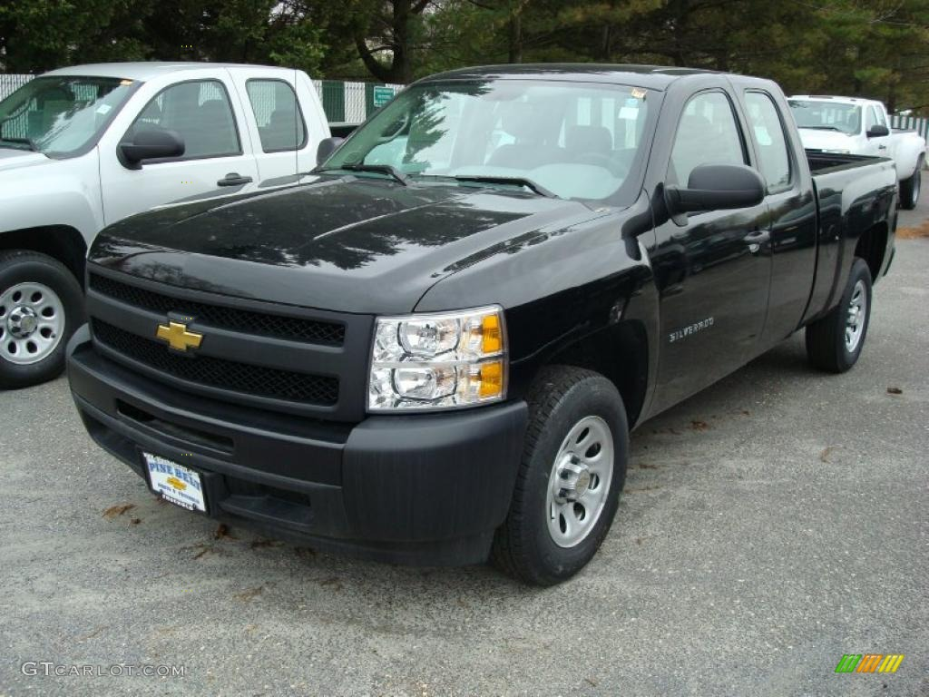 2011 Silverado 1500 Extended Cab - Black / Dark Titanium photo #1