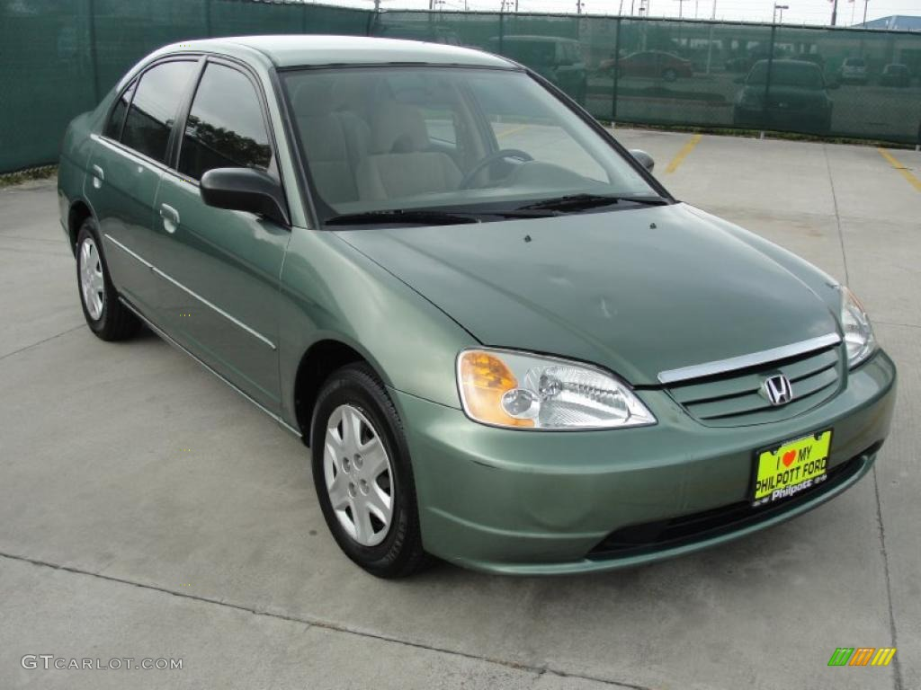 2003 galapagos green honda civic lx sedan 48099742 car color galleries. Black Bedroom Furniture Sets. Home Design Ideas
