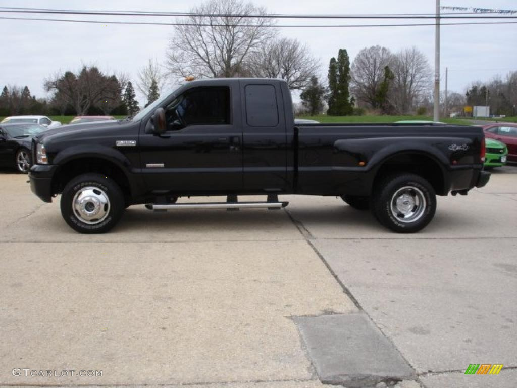 Black 2005 Ford F350 Super Duty XLT SuperCab 4x4 Dually Exterior Photo ...