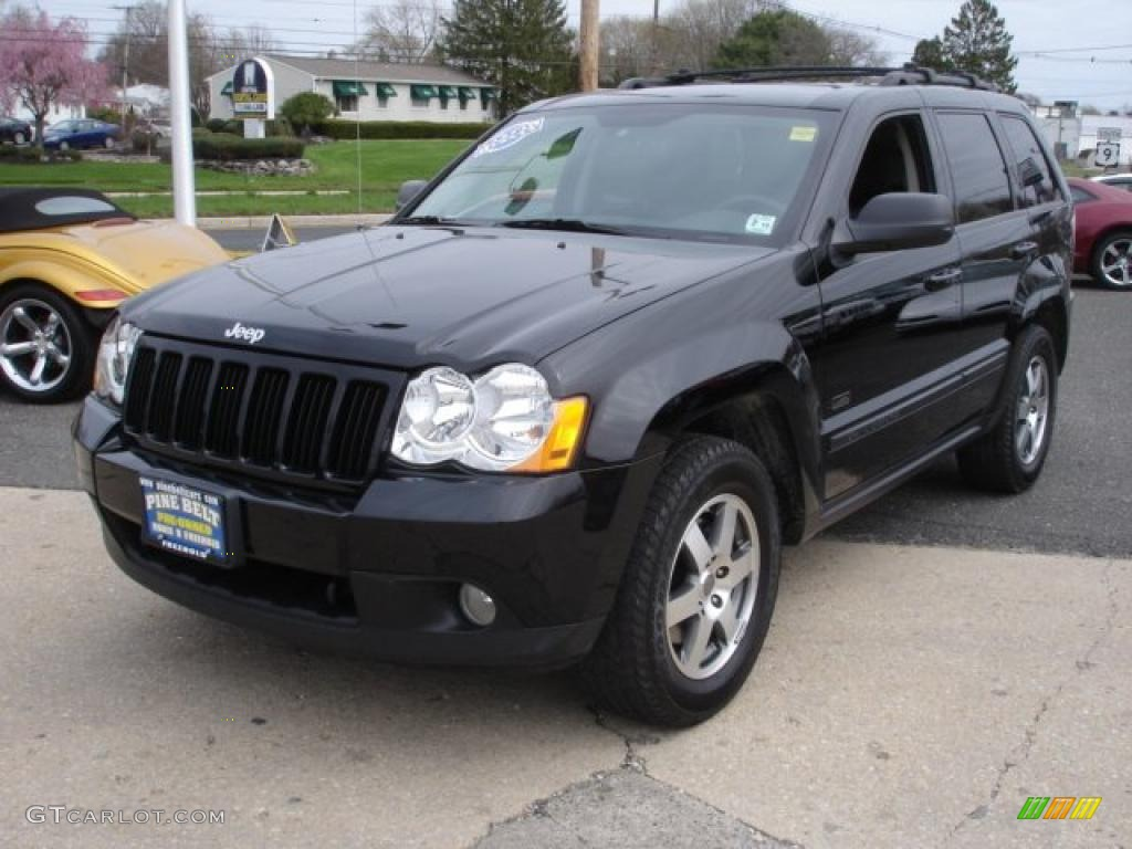 2008 black jeep grand cherokee laredo 4x4 48099622 car color galleries. Black Bedroom Furniture Sets. Home Design Ideas