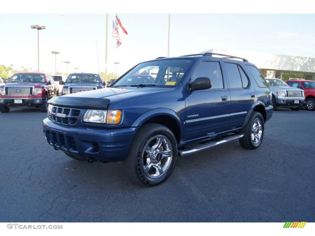 clipper blue metallic 2002 isuzu rodeo ls 4wd exterior. Black Bedroom Furniture Sets. Home Design Ideas