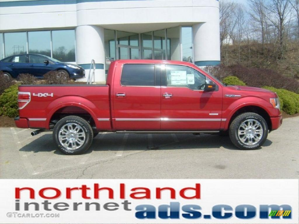 2011 f150 platinum supercrew 4x4 red candy metallic sienna brown black photo
