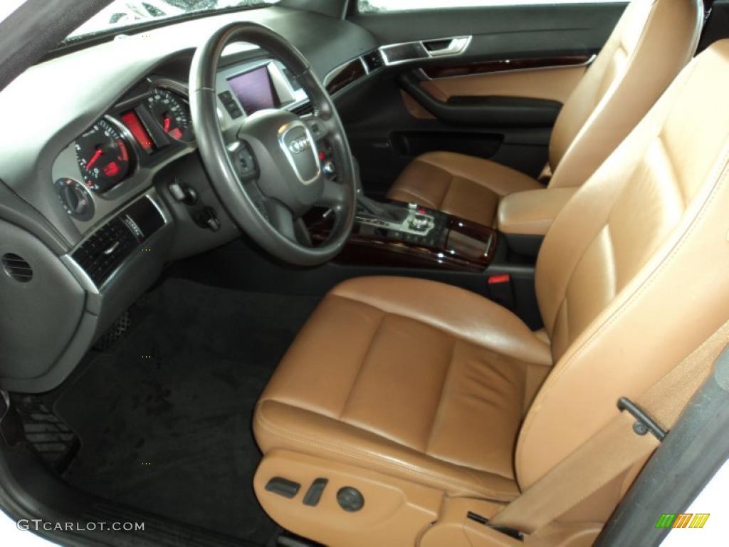 Amaretto interior 2008 audi a6 3 2 sedan photo 48145527 gtcarlot com