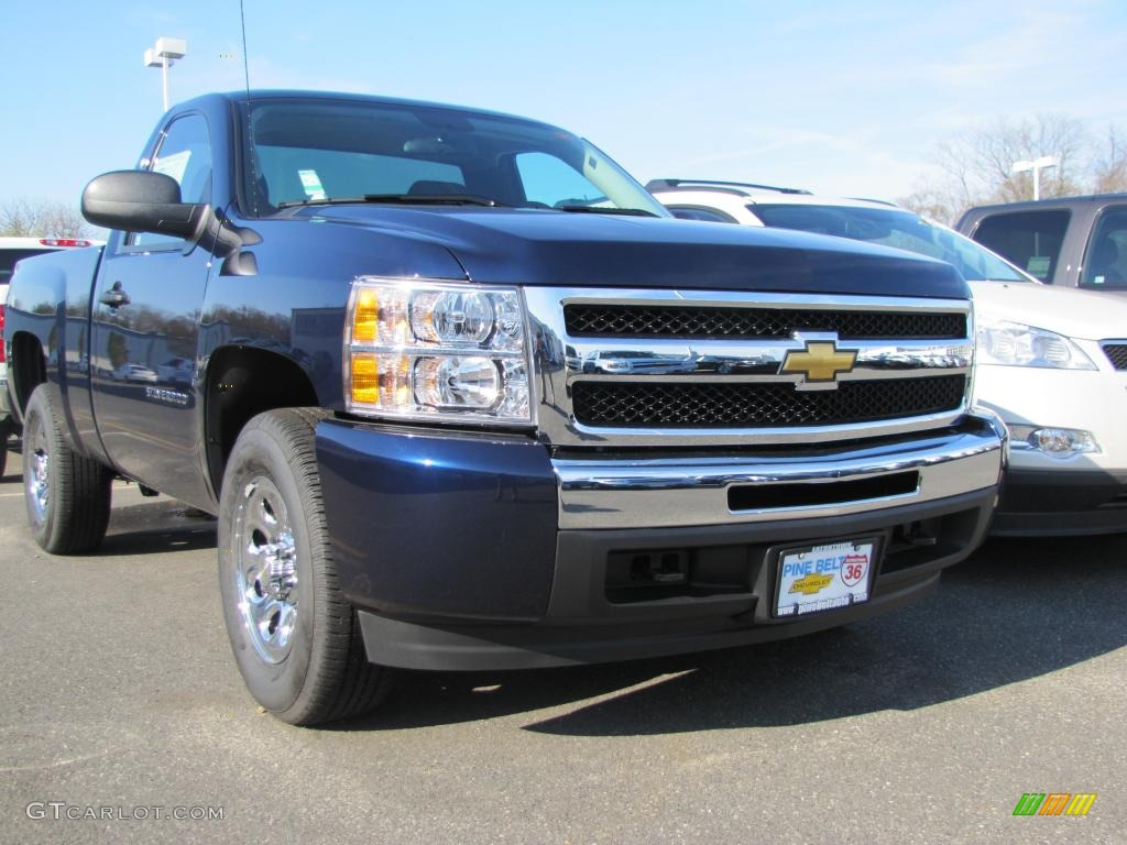 2011 Silverado 1500 LS Regular Cab 4x4 - Imperial Blue Metallic / Dark Titanium photo #1