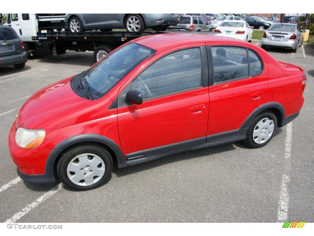 Absolutely red toyota echo
