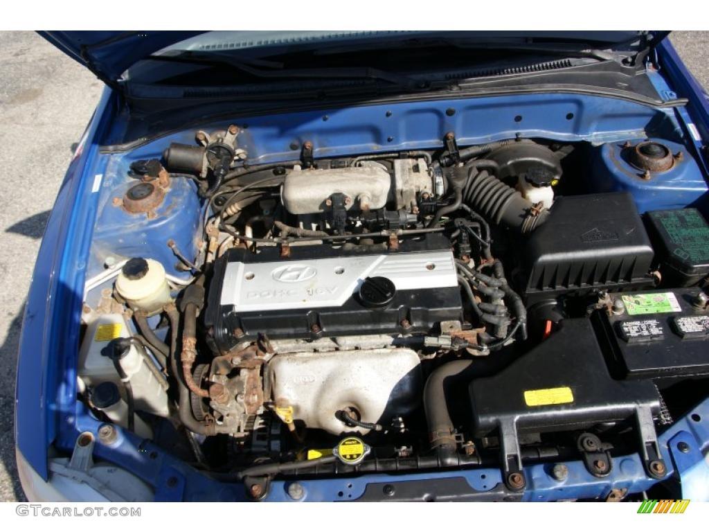 2002 Hyundai Accent Gl Sedan 1 6 Liter Dohc 16 Valve 4 Cylinder Engine Photo 48150770