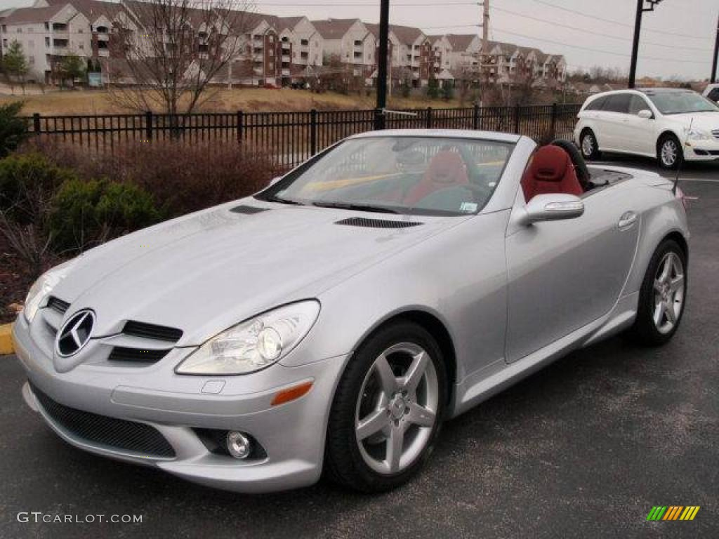 2007 iridium silver metallic mercedes benz slk 280 roadster 4806154 car color. Black Bedroom Furniture Sets. Home Design Ideas
