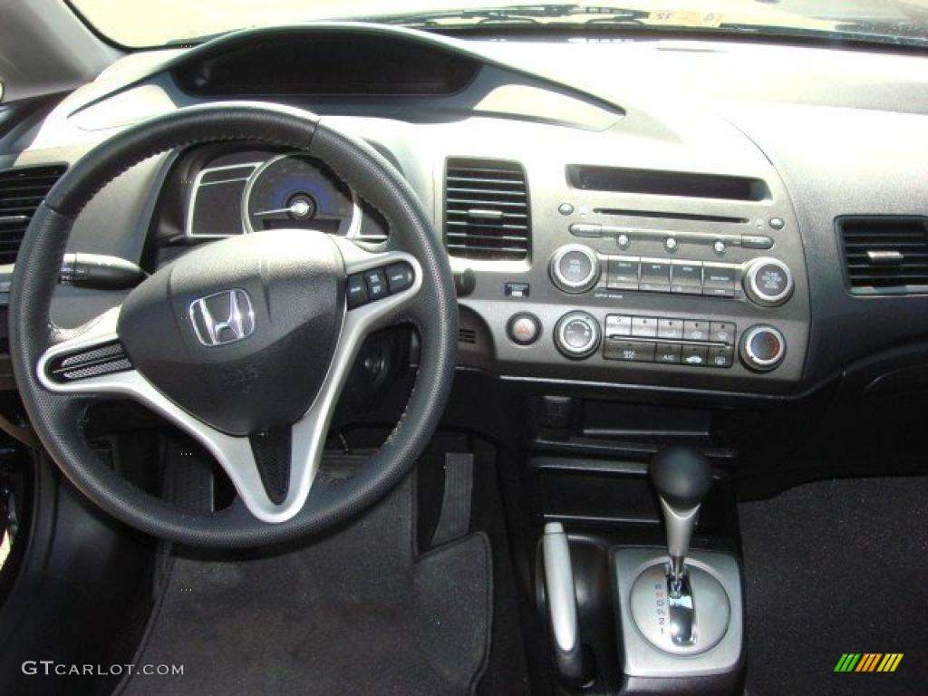 2011 Honda Civic LX S Sedan Black Dashboard Photo #48154580
