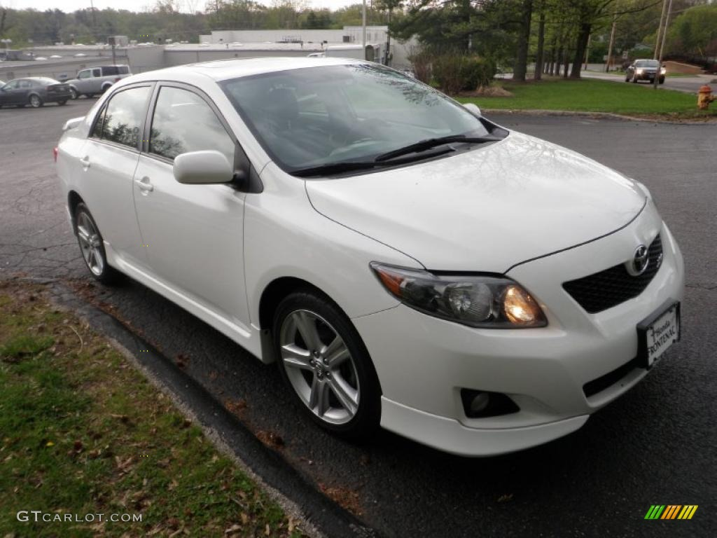 2009 super white toyota corolla xrs 48100056 gtcarlot. Black Bedroom Furniture Sets. Home Design Ideas