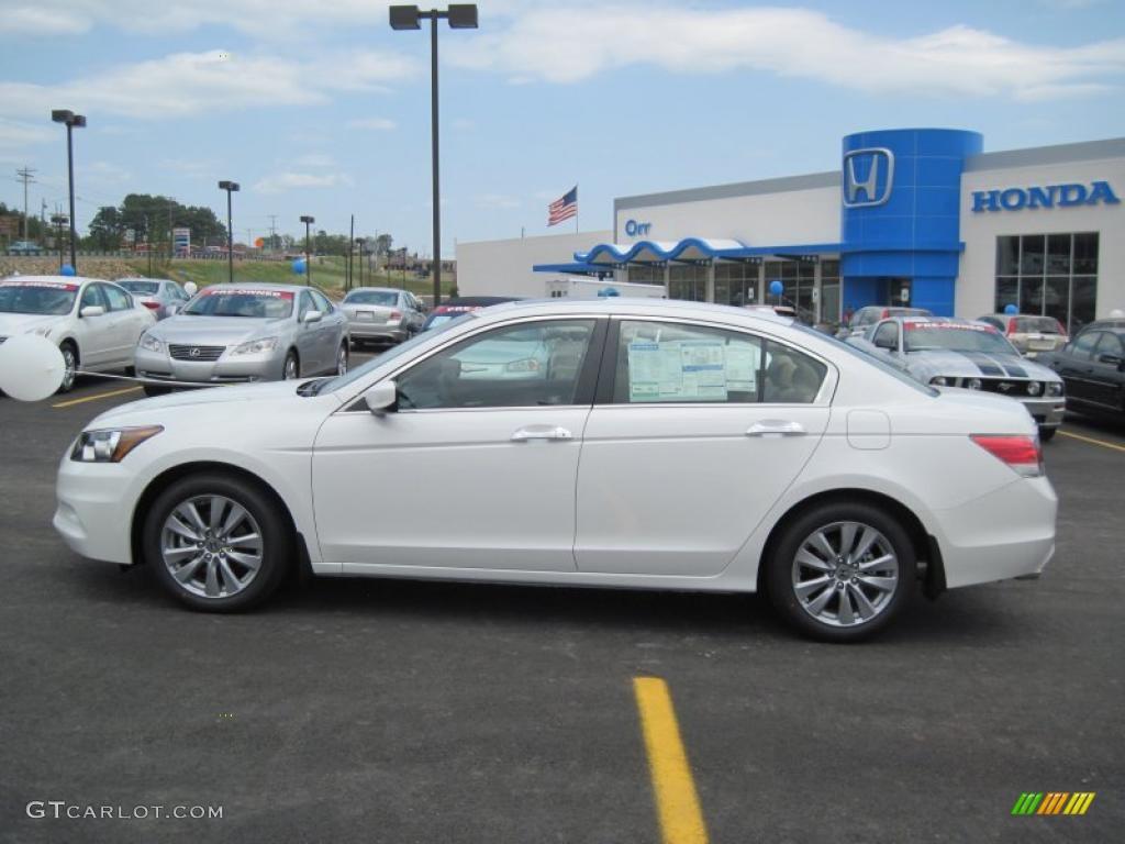 Taffeta White 2011 Honda Accord Ex L V6 Sedan Exterior