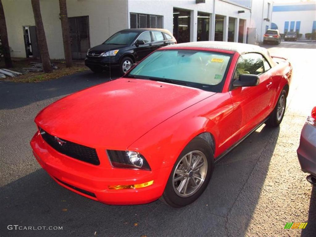 2005 torch red ford mustang v6 premium convertible 48167869 photo 4 car color for 2005 ford mustang convertible interior