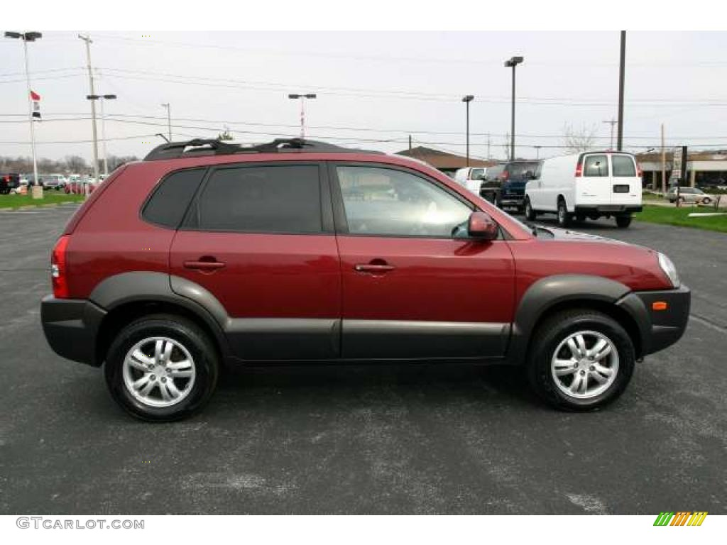 mesa red metallic 2007 hyundai tucson se exterior photo. Black Bedroom Furniture Sets. Home Design Ideas
