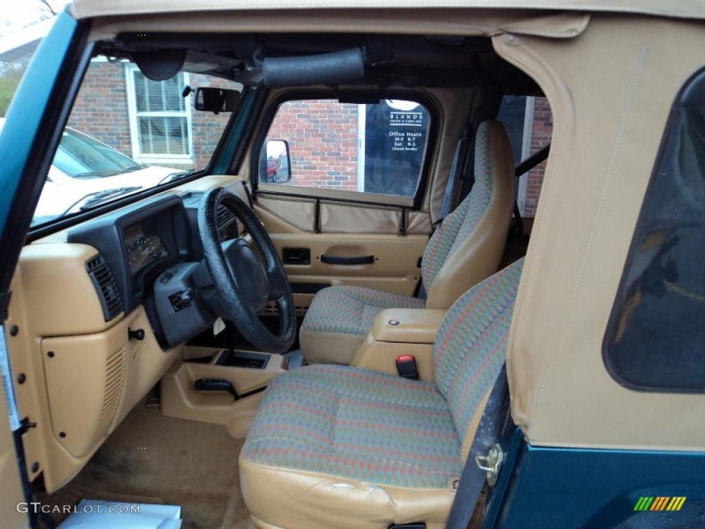 Tan Interior 1997 Jeep Wrangler Sport 4x4 Photo 48188917