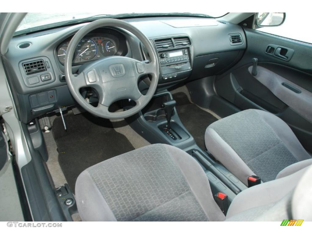 Dark Gray Interior 1999 Honda Civic Dx Coupe Photo