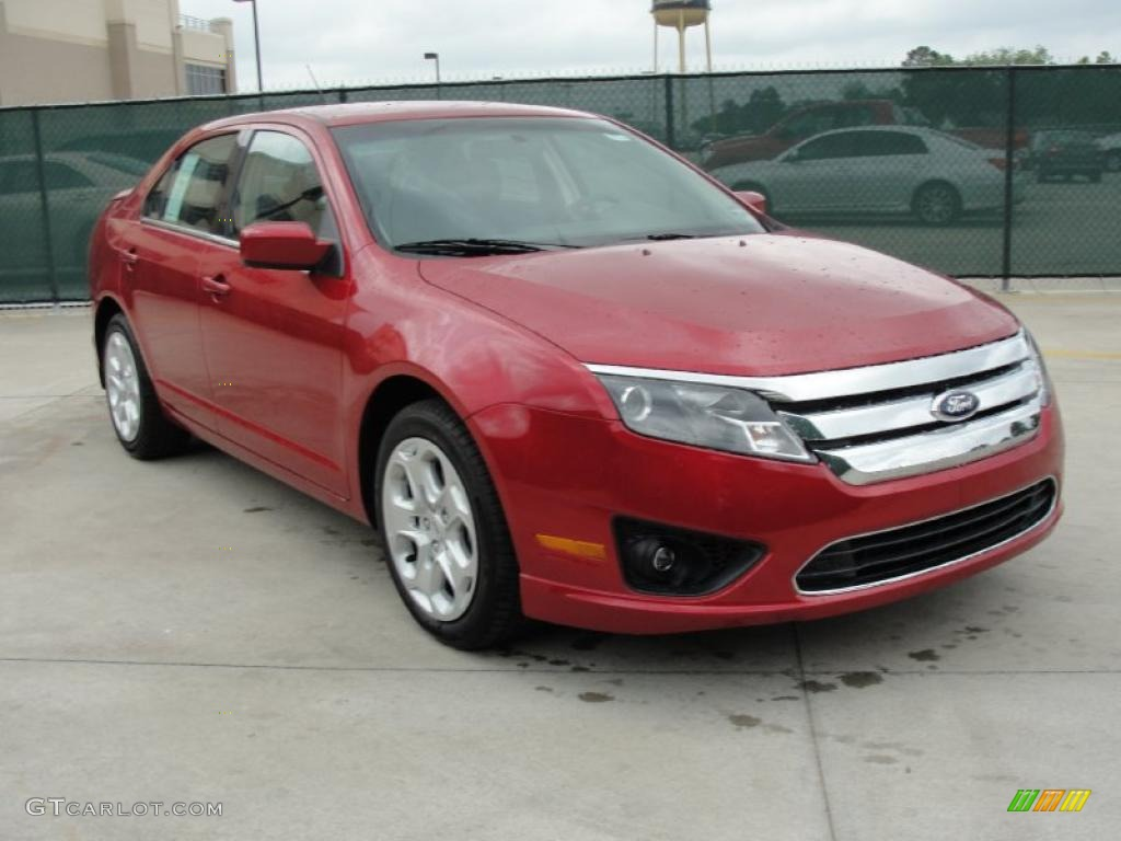 2011 Fusion SE - Red Candy Metallic / Charcoal Black photo #1