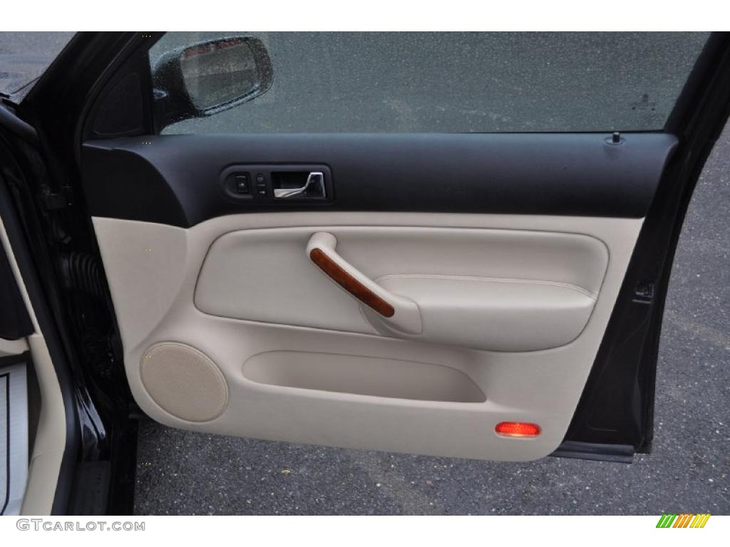 2003 Volkswagen Jetta Glx Sedan Beige Door Panel Photo 48198724