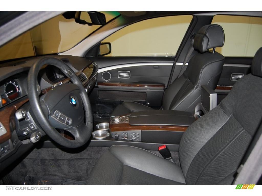 Black Interior BMW Series Li Sedan Photo - 2008 bmw 750i