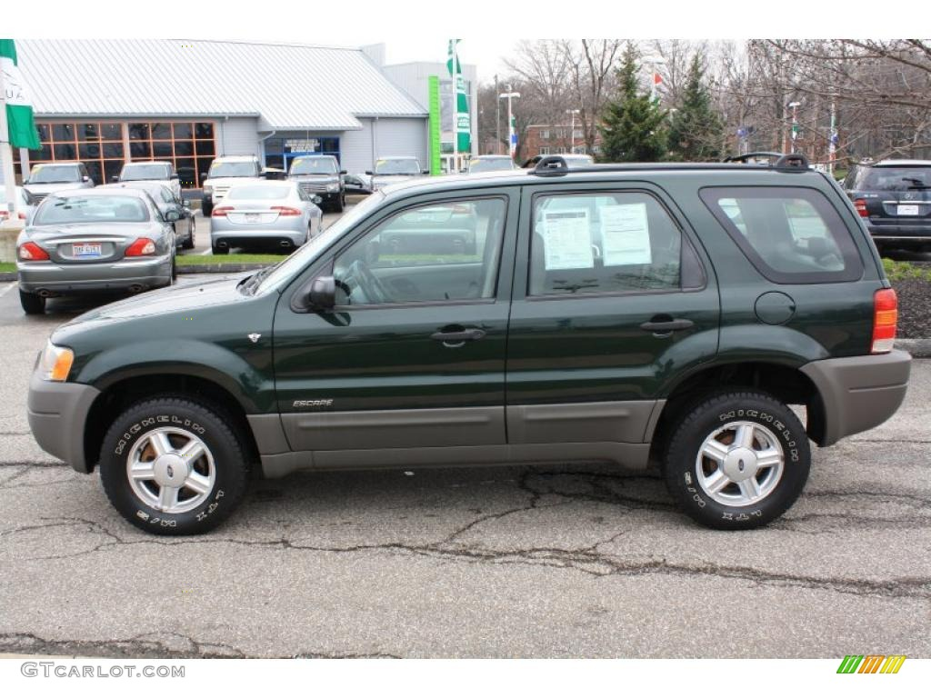 dark highland green metallic 2001 ford escape xls v6. Black Bedroom Furniture Sets. Home Design Ideas