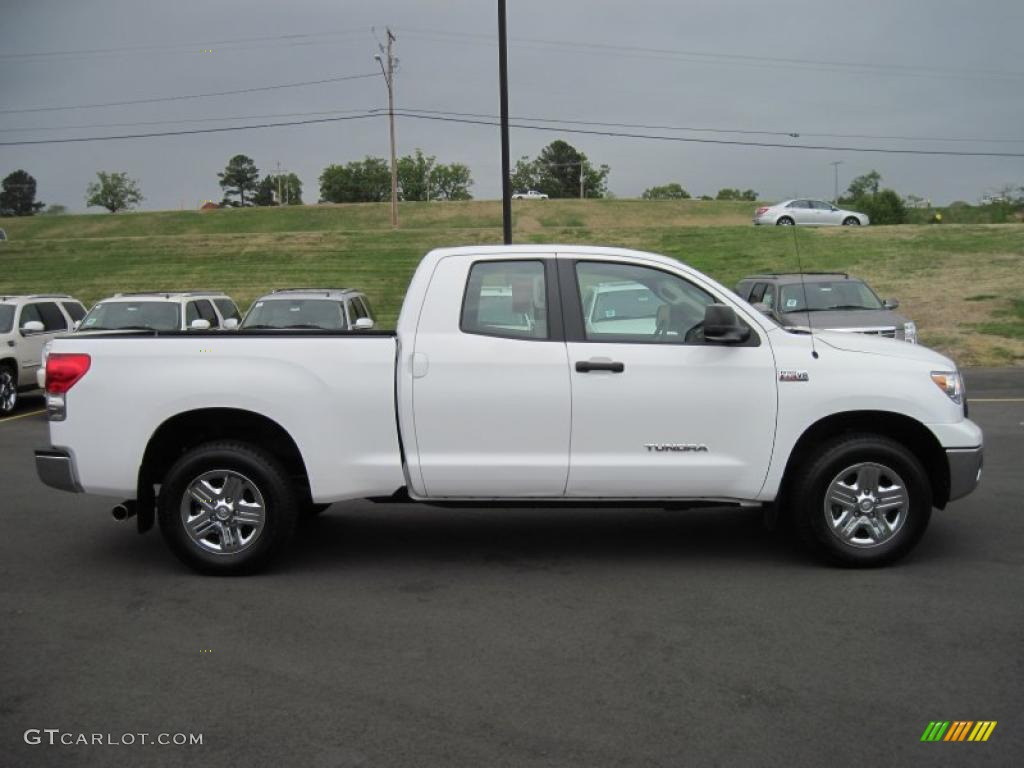 super white 2009 toyota tundra double cab 4x4 exterior. Black Bedroom Furniture Sets. Home Design Ideas
