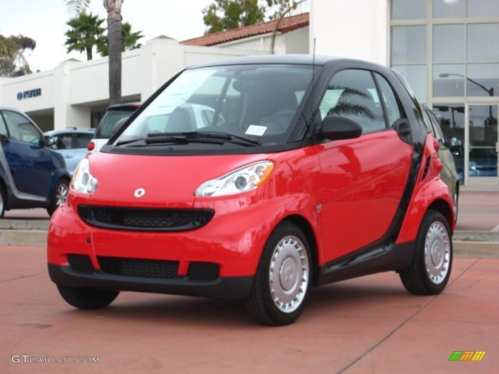 2011 rally red smart fortwo pure coupe 48193908 car color galleries. Black Bedroom Furniture Sets. Home Design Ideas