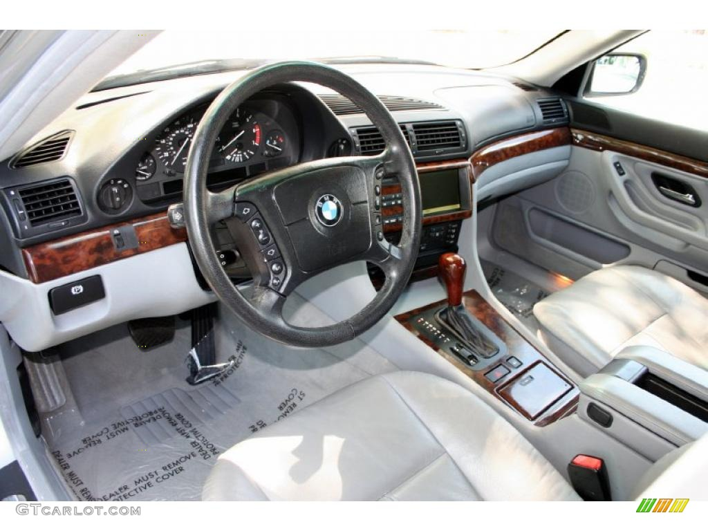 Grey Interior 2000 BMW 7 Series 740iL Sedan Photo 48223964