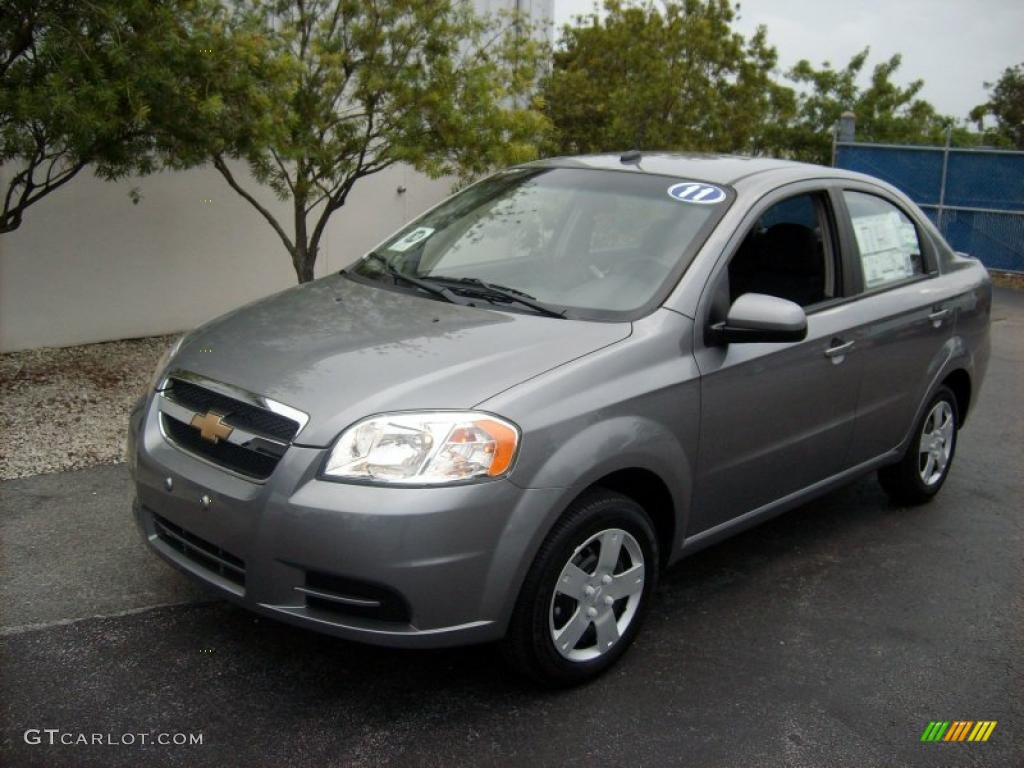 2011 medium gray chevrolet aveo lt sedan 48233314 car color galleries. Black Bedroom Furniture Sets. Home Design Ideas