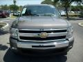 2011 Mocha Steel Metallic Chevrolet Silverado 1500 LT Extended Cab  photo #2