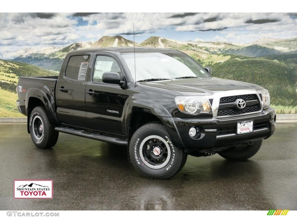 2011 black toyota tacoma tx double cab 4x4 48233181. Black Bedroom Furniture Sets. Home Design Ideas