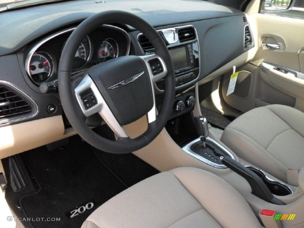 chrysler 200 2011 black. blacklight frost beige interior 2011 chrysler 200 touring convertible photo 48252336 black y