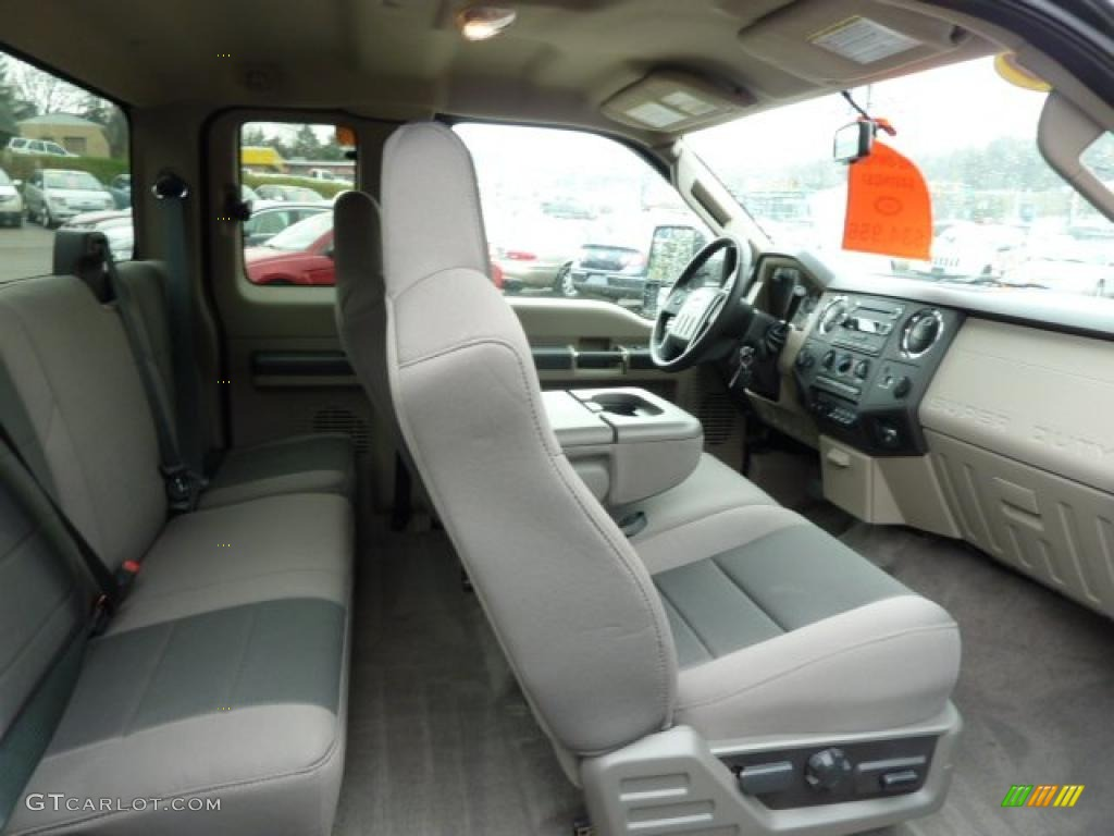 medium stone interior 2010 ford f250 super duty xlt supercab 4x4 photo 48255717