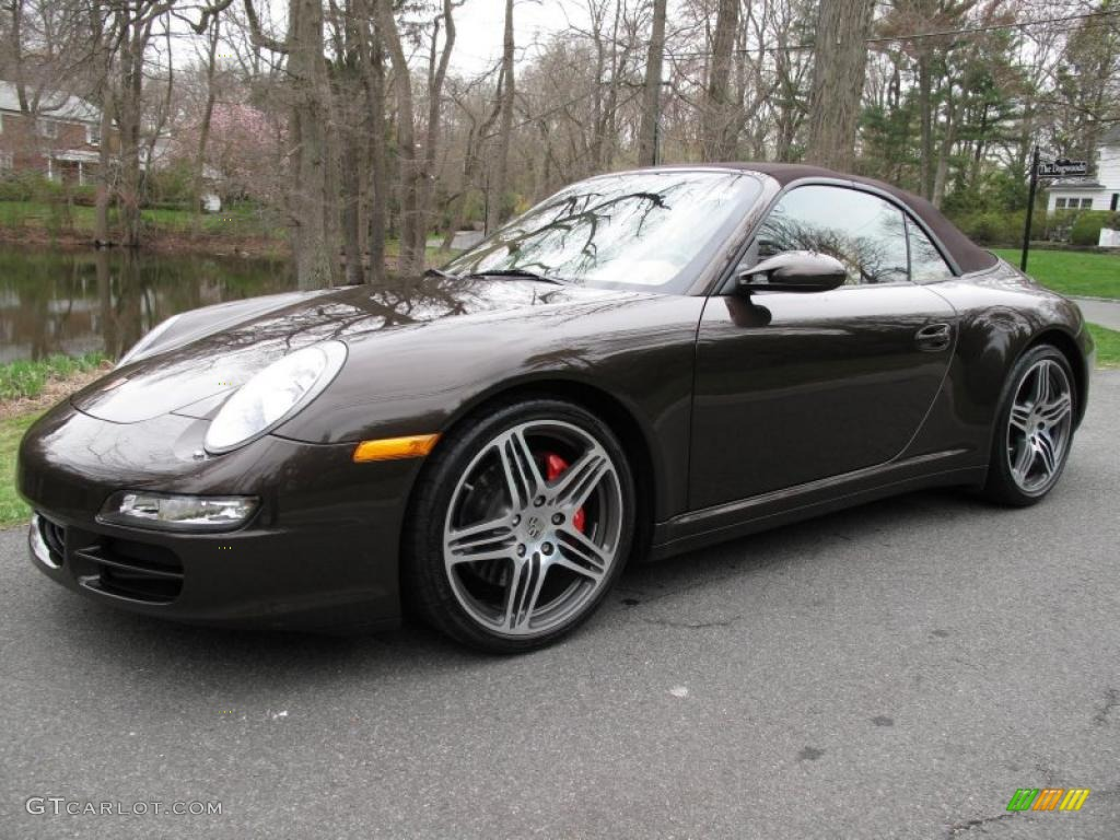 2008 macadamia metallic porsche 911 carrera 4s cabriolet. Black Bedroom Furniture Sets. Home Design Ideas