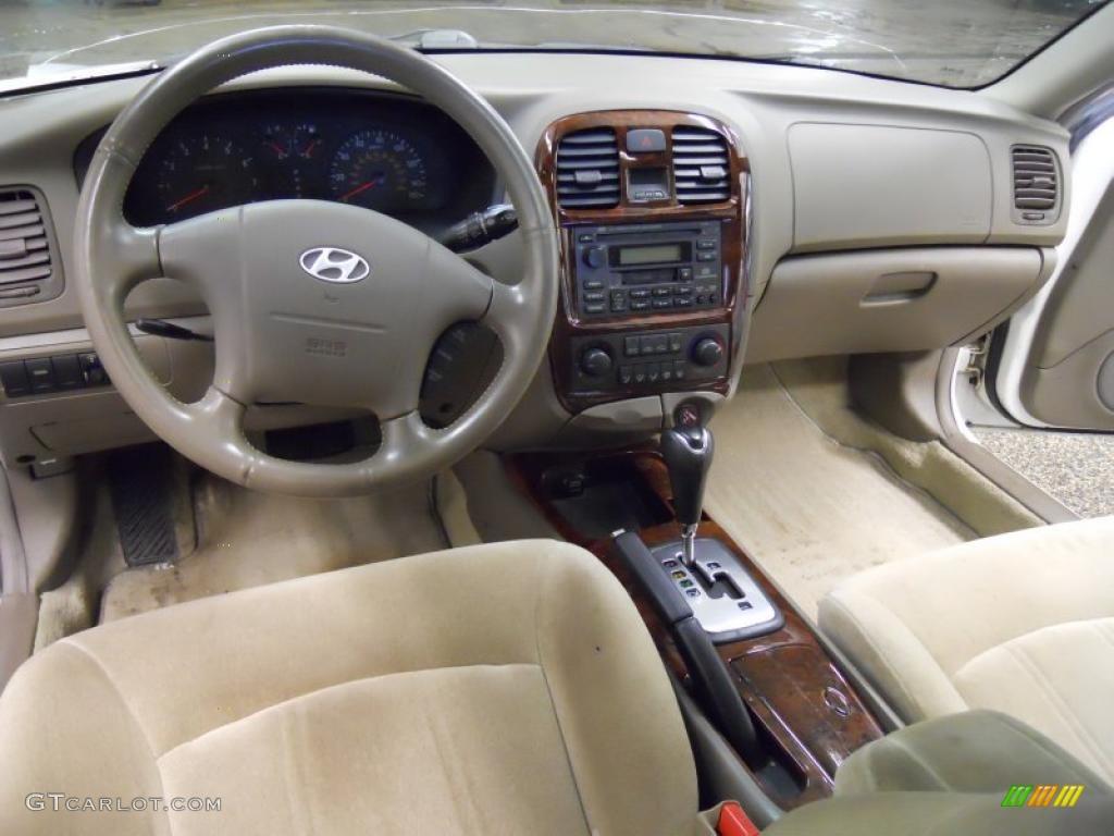 Beige Interior 2002 Hyundai Sonata Gls V6 Photo 48272512