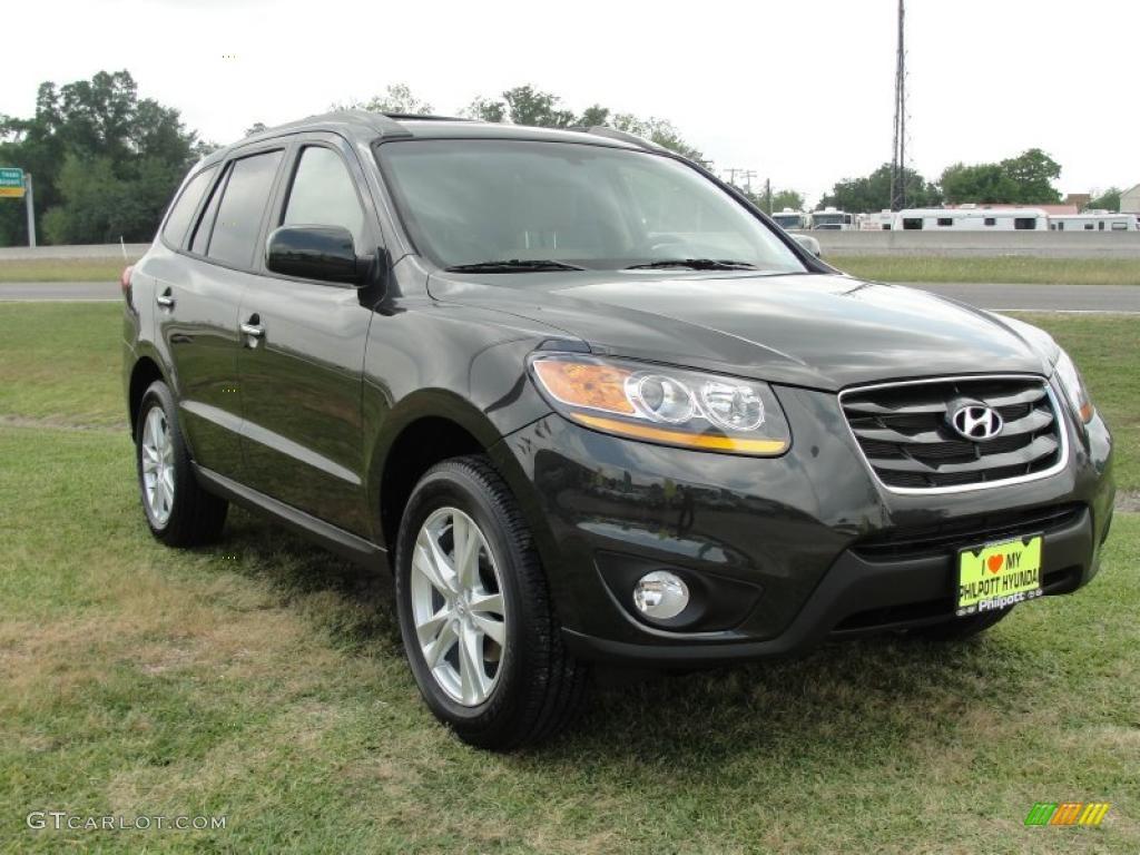 2011 Black Forest Green Hyundai Santa Fe Limited 48268618