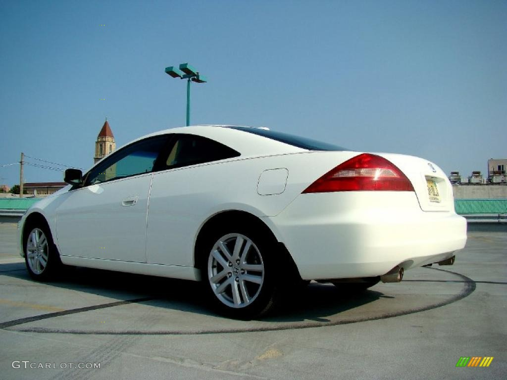 Taffeta White 2005 Honda Accord Ex V6 Coupe Exterior Photo