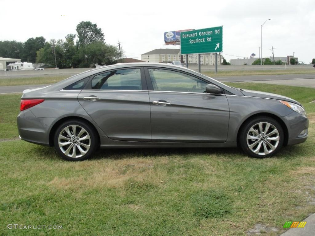 Harbor Gray Metallic 2011 Hyundai Sonata Se Exterior Photo