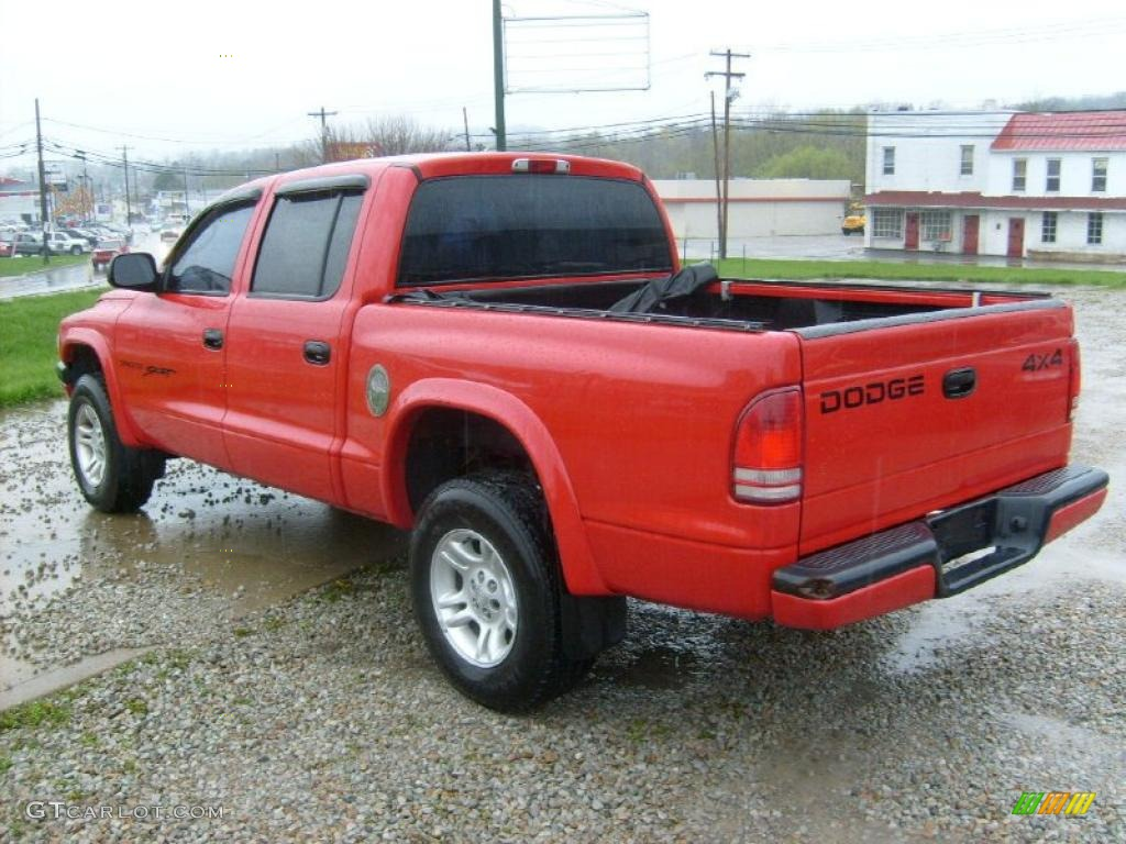 on Red 1993 Dodge Dakota