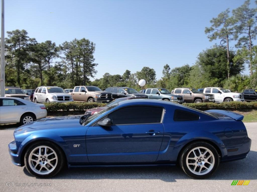 Vista Blue Metallic 2007 Ford Mustang Gt Deluxe Coupe
