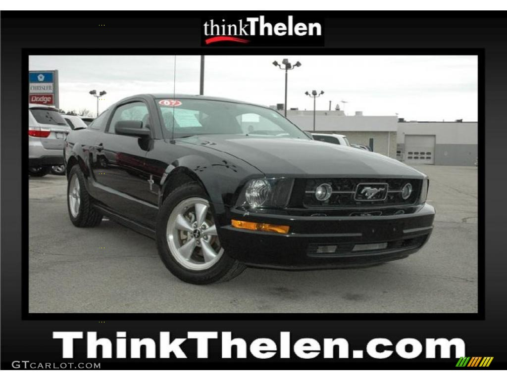 2007 Mustang V6 Premium Coupe - Black / Dark Charcoal photo #1