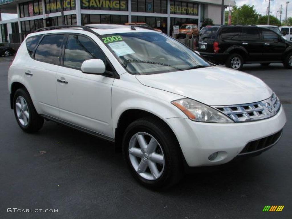 2003 Glacier White Pearl Nissan Murano Se 48268947