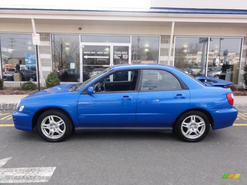 WR Blue Pearl 2002 Subaru Impreza WRX Sedan Exterior Photo #48333436