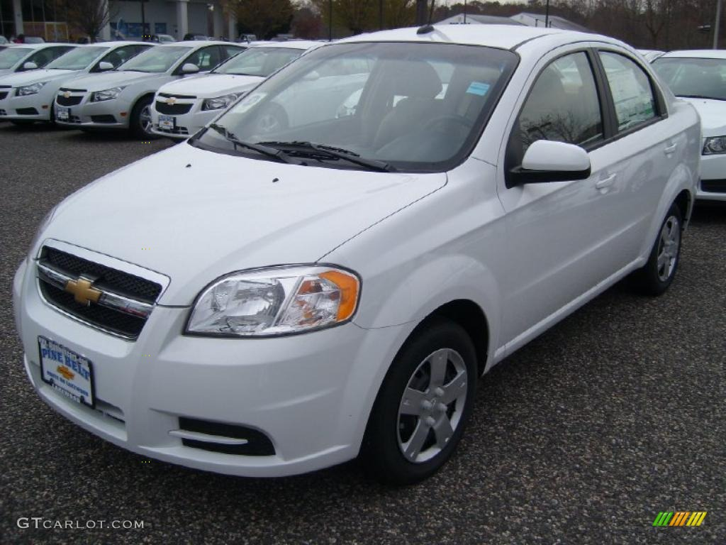 2011 summit white chevrolet aveo lt sedan 48328236 car color galleries. Black Bedroom Furniture Sets. Home Design Ideas