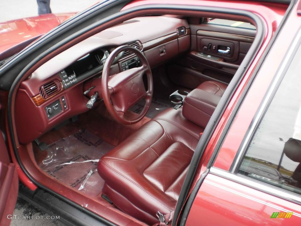 Mulberry Interior 1999 Cadillac Deville Sedan Photo 48355150