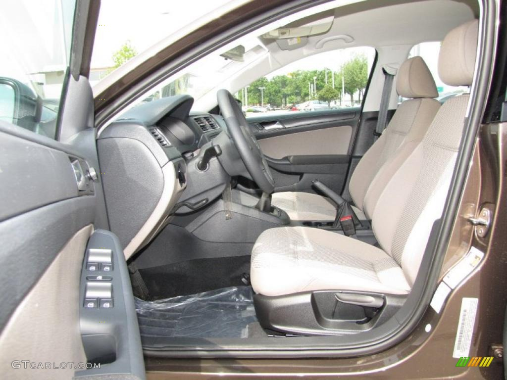 Latte Macchiato Interior 2011 Volkswagen Jetta S Sedan Photo 48359614