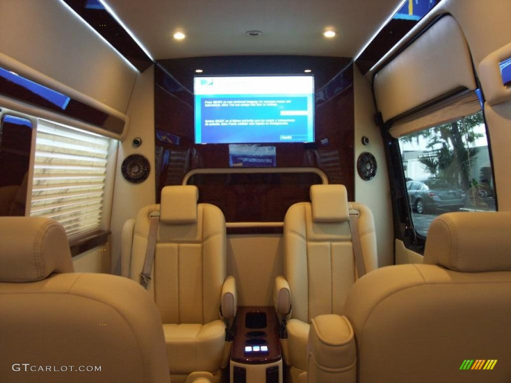 Beige Interior 2011 Mercedes Benz Sprinter 2500 High Roof Passenger Conversion Van Photo 48368014
