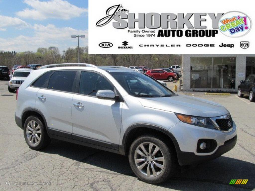 2011 Sorento EX V6 - Bright Silver / Black photo #1