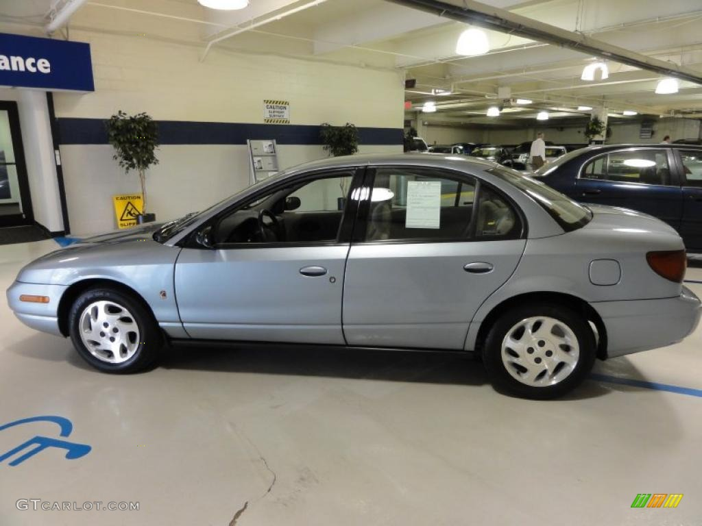 Silver blue 2002 saturn s series sl2 sedan exterior photo 48375047