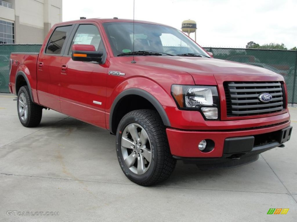 2011 f150 king ranch supercrew 4x4 red candy metallic black photo 1